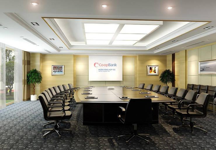 Thiết kế thi công nội thất văn phòng ngân Hàng Co-op Bank:  Corridor, hallway & stairs by Nội Thất TNC