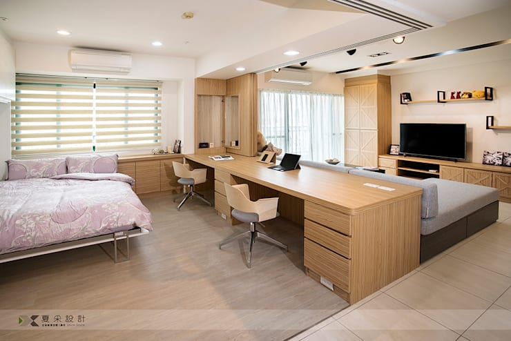 Study/office by 寬森空間設計, Modern Wood Wood effect