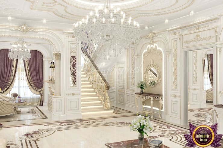 ​  House Design in Cambodia from Katrina Antonovich:  Corridor & hallway by Luxury Antonovich Design, Classic