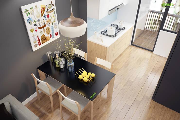 Bếp và bàn ăn:  Kitchen by Công ty TNHH Thiết Kế và Ứng Dụng QBEST