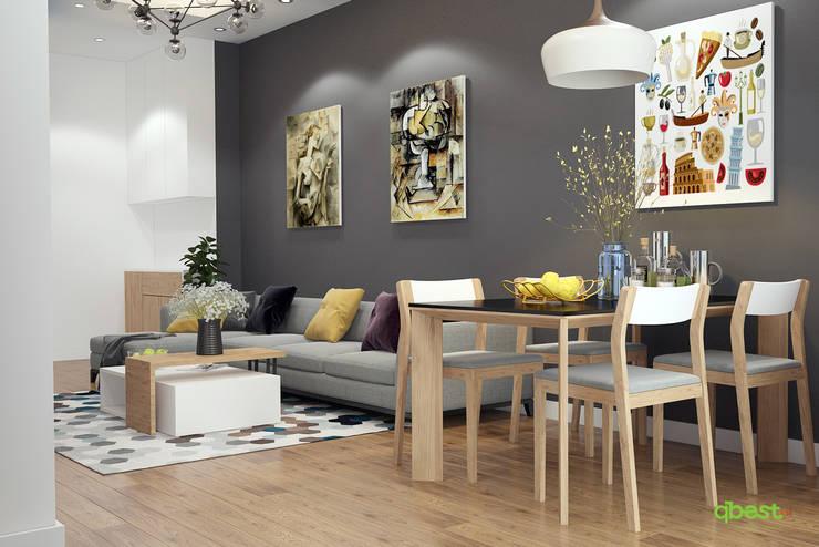 Phòng khách:  Kitchen by Công ty TNHH Thiết Kế và Ứng Dụng QBEST