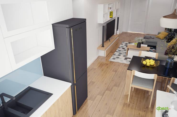 Bếp:  Kitchen by Công ty TNHH Thiết Kế và Ứng Dụng QBEST