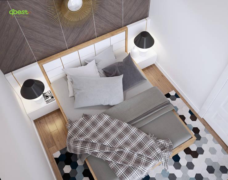Phòng ngủ 2 vợ chồng:  Kitchen by Công ty TNHH Thiết Kế và Ứng Dụng QBEST