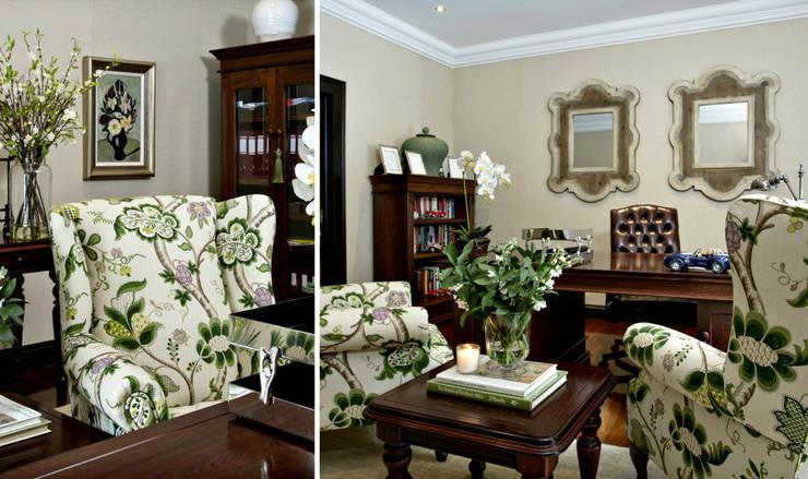 Recent Decorating Projects—Joseph Avnon Interiors:  Study/office by Joseph Avnon Interiors
