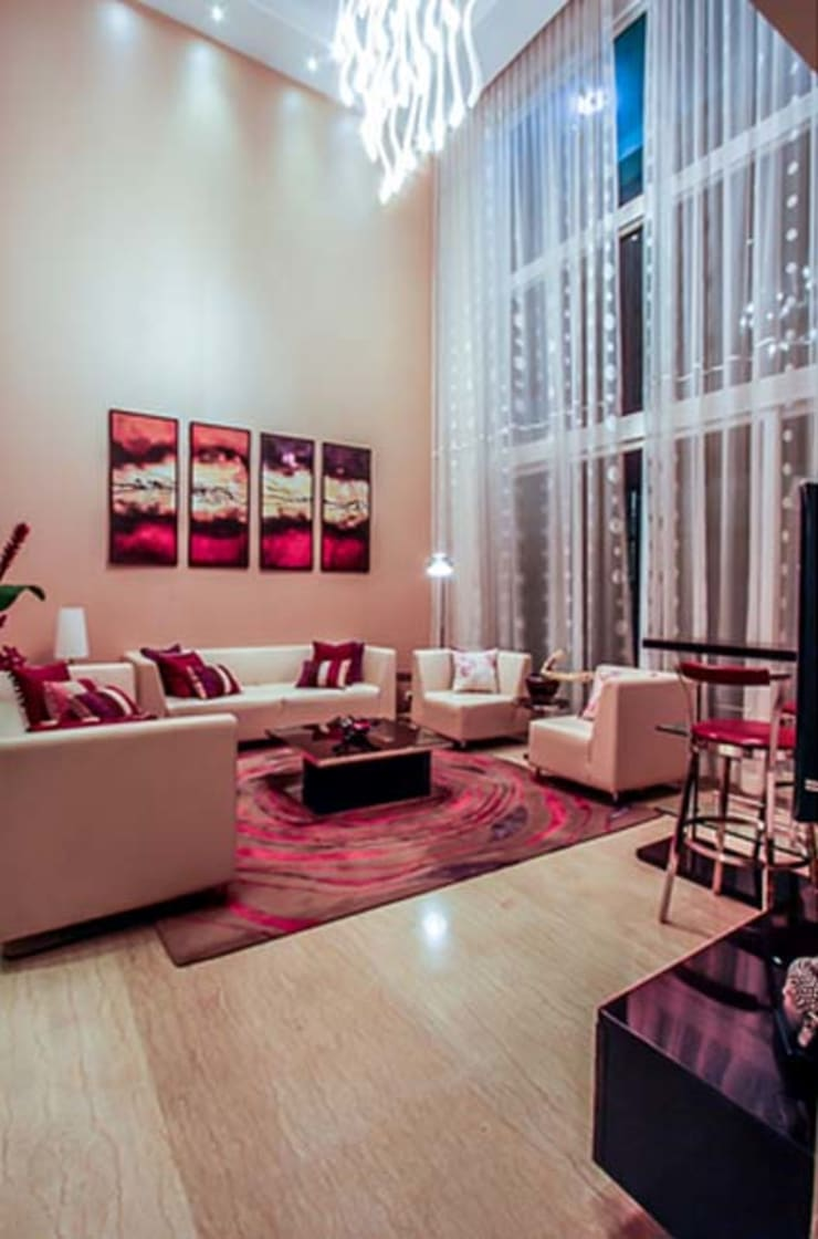 Home projects: minimalistic Living room by Zeba India Pvt. Ltd.