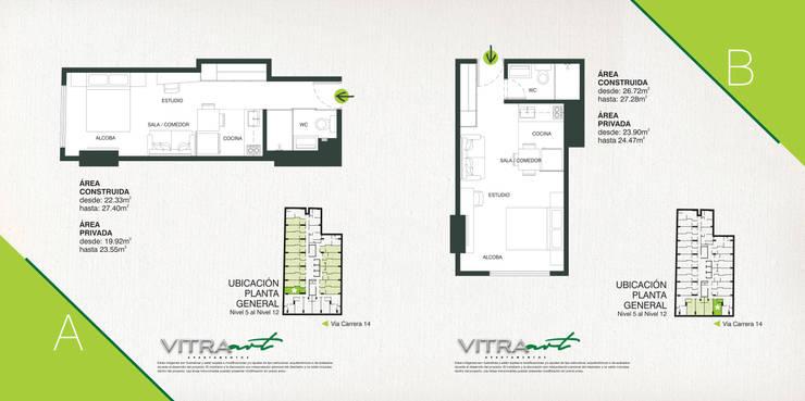 VITRA ART Apartamentos, la mejor inversión en Bogotá. de Proyectamos y Edificamos