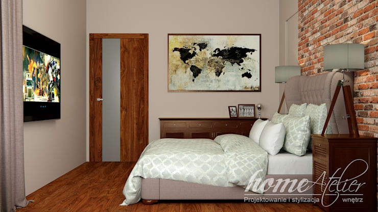 غرفة نوم تنفيذ Home Atelier