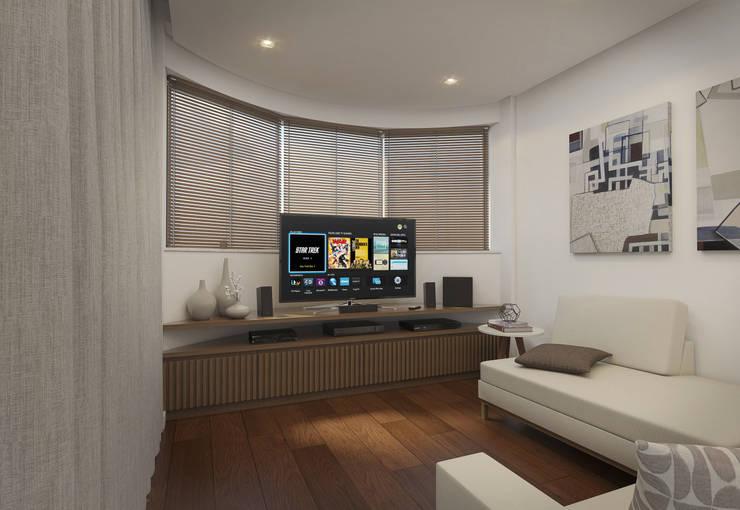 Salas / recibidores de estilo  por Filipe Castro Arquitetura | Design