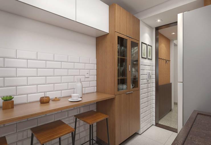 Cocinas de estilo moderno por Filipe Castro Arquitetura | Design