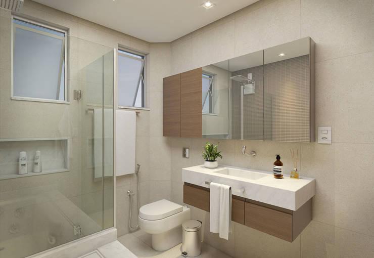 Baños de estilo  por Filipe Castro Arquitetura | Design