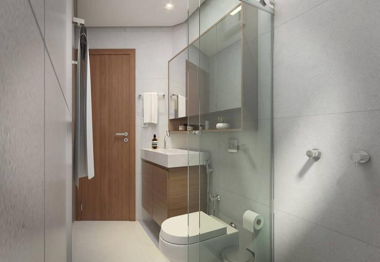 Baños de estilo minimalista por Filipe Castro Arquitetura | Design