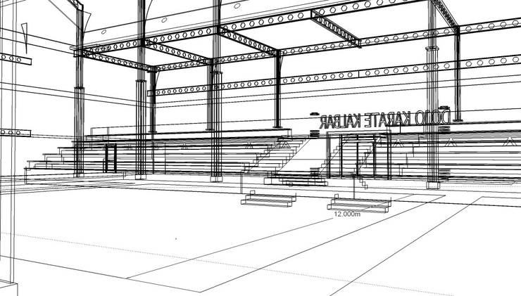 Sport Hall:   by arsitek adin