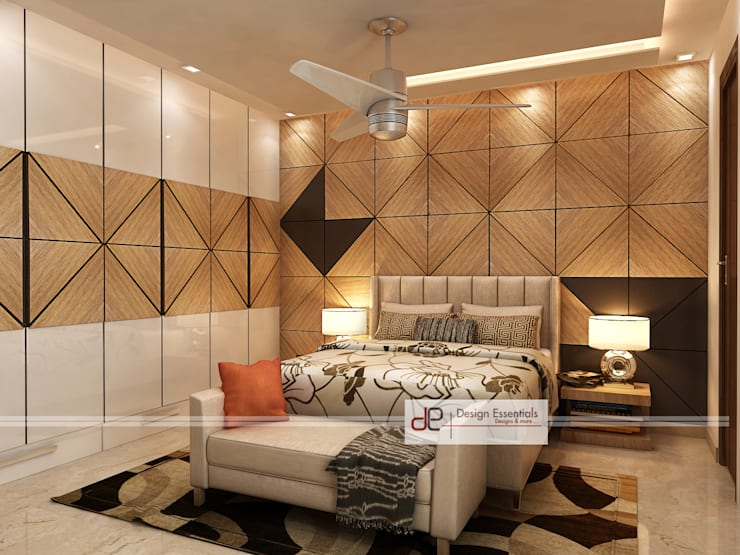 Villa at Jay Pee Greens Greater Noida :  Bedroom by Design Essentials