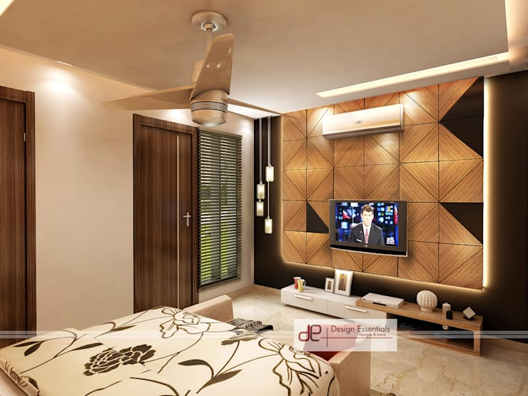 Villa at Jay Pee Greens Greater Noida :  Bedroom by Design Essentials