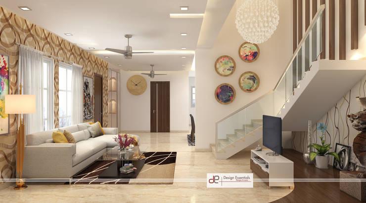 Villa at Jay Pee Greens Greater Noida :  Corridor & hallway by Design Essentials