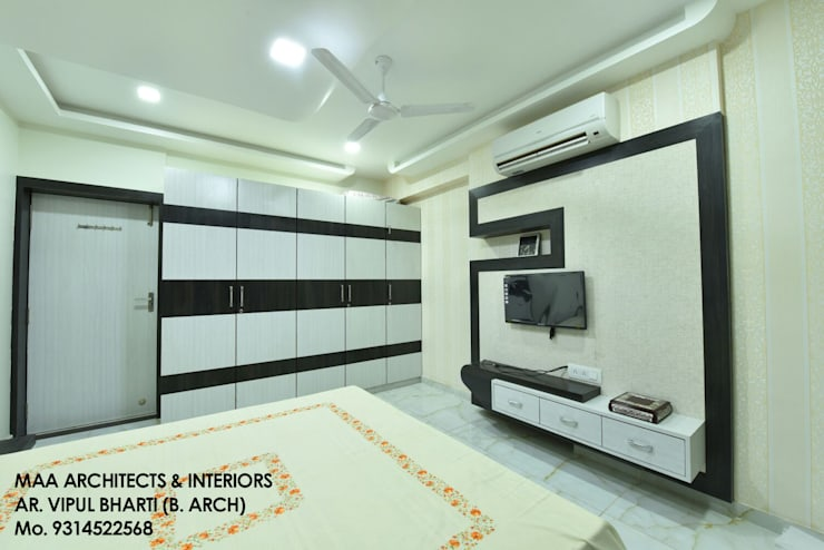 M.M Mehta Ji :  Bedroom by MAA ARCHITECTS & INTERIOR DESIGNERS