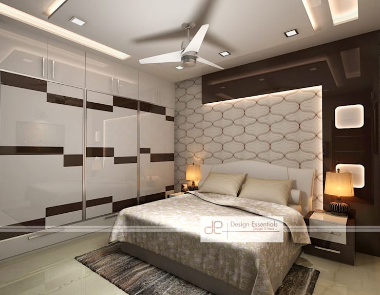 Residence at Rohini, New Delhi:  Bedroom by Design Essentials
