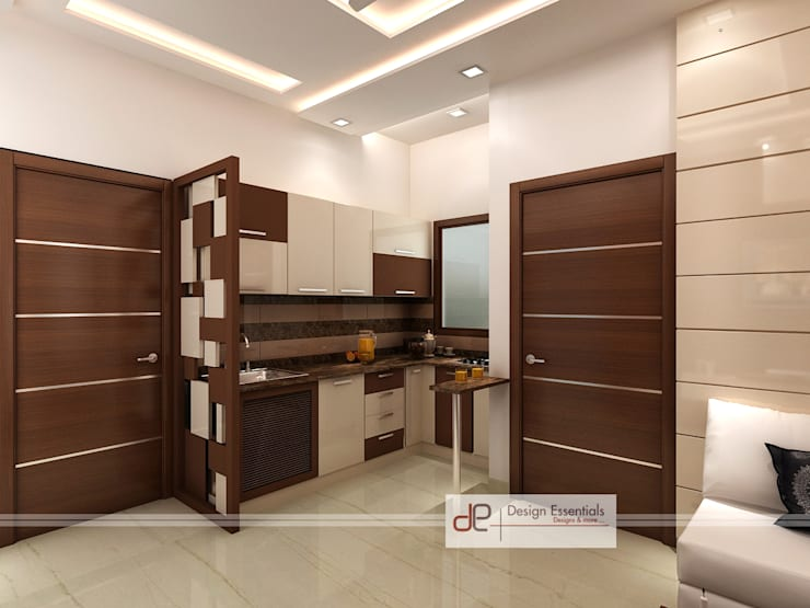 Residence at Rohini, New Delhi: modern Kitchen by Design Essentials