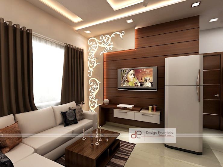 Residence at Rohini, New Delhi: modern Living room by Design Essentials