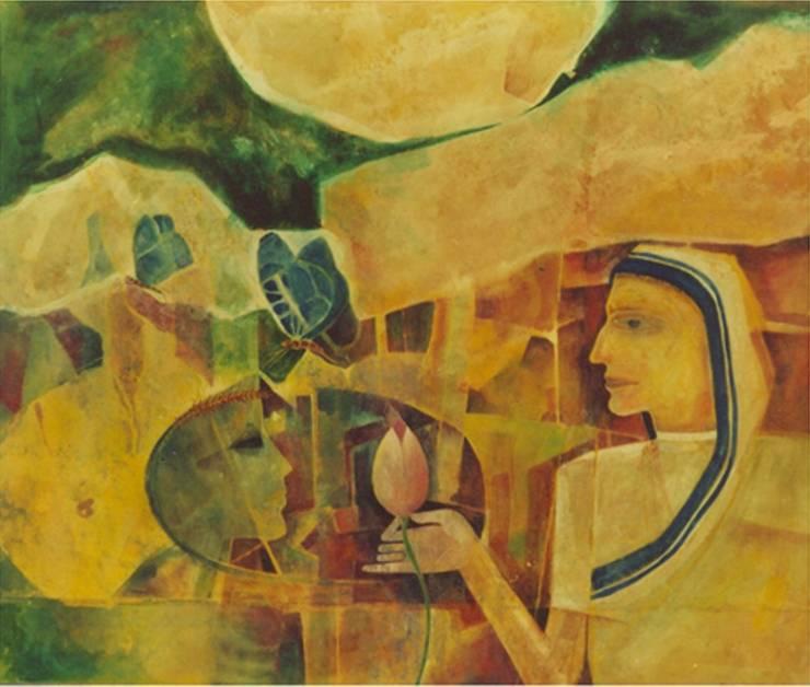 Close Encounter No 4:  Artwork by Indian Art Ideas
