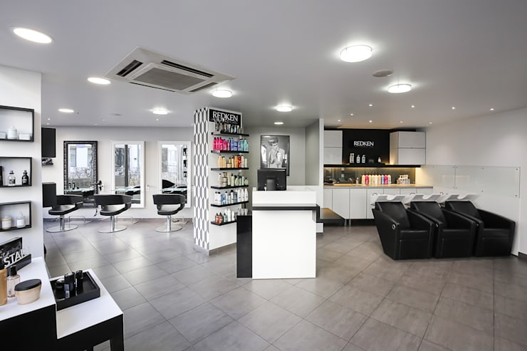 SALON DE COIFFURE CONTEMPORAIN von AUDE SWEET HOME | homify