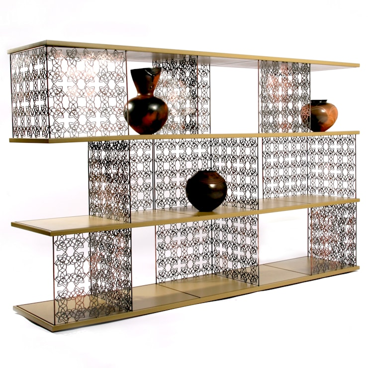 Desert rose moduler shelf:  Living room by Egg Designs CC