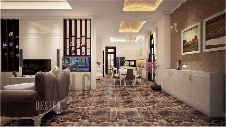 không gian sảnh phòng khách:  Hành lang by DCOR