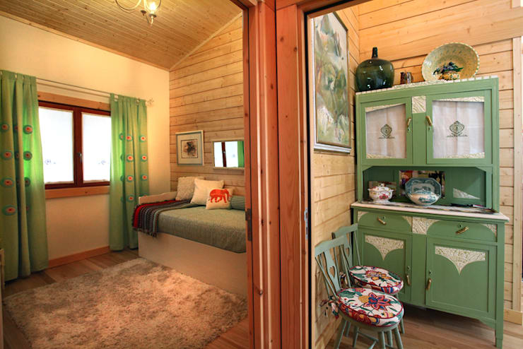 Habitaciones de estilo rústico por Rusticasa