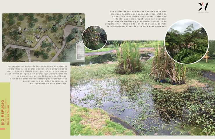 BIOREFUGIO COLEGIO LOS NOGALES: Jardines de estilo  por concepto verde SAS, Rural