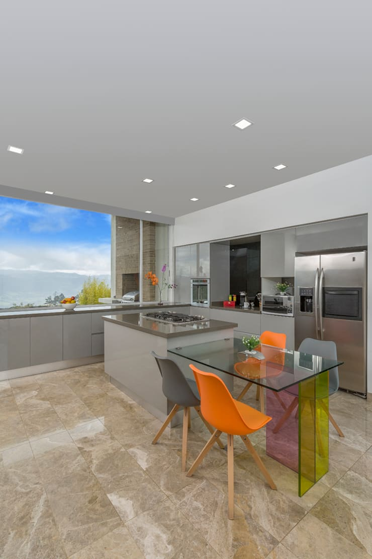 Cocina Armony - Proyecto terminado Atelier Casa: Cocinas de estilo  por ATELIER CASA S.A.S, Moderno