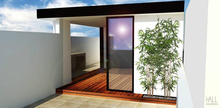 Roof Garden Anaxágoras:  Patios & Decks by Hall Arquitectos