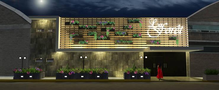 Salón de Fiestas La Foret:  Houses by Hall Arquitectos