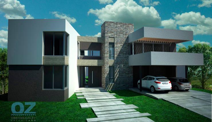 Casa Mutti: Casas de estilo  por OZestudioArq,