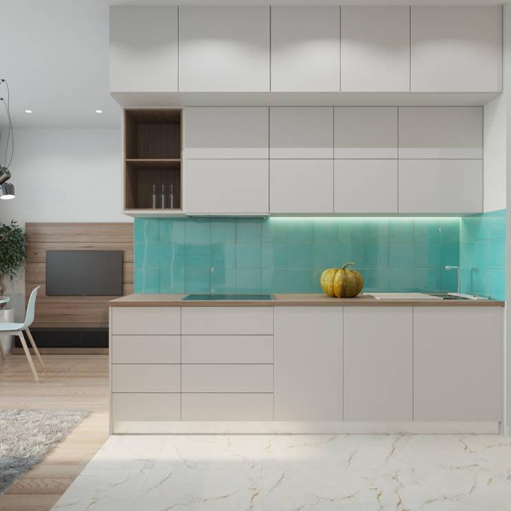 Cocinas de estilo minimalista por ДОМ СОЛНЦА