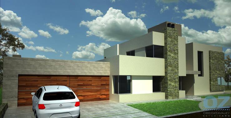 Casa Amado: Casas de estilo  por OZestudioArq,Moderno