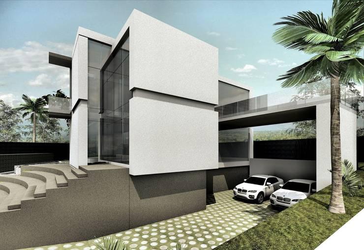 Fachada lateral Derecha:  de estilo  por Elite Arquitectura y Asoc. SAS.