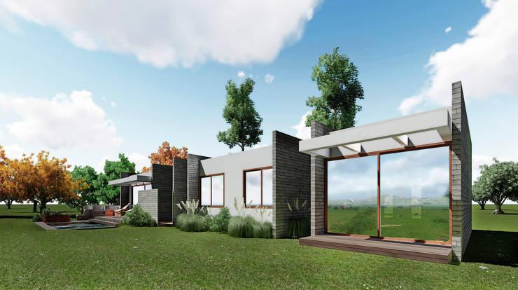casa Asturias- prediseñada - valor desde 2950 uf.: Casas de estilo  por NEF Arq.