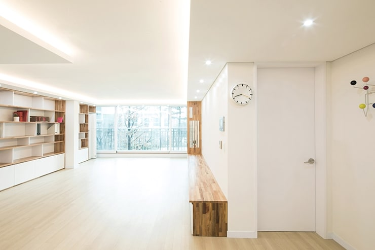 The Wood Strip House_잠실 레이크팰리스: 지오아키텍처의  거실