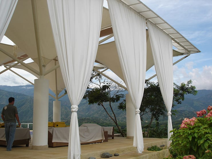 Cubierta - Pangordito: Salas de estilo  por Bocanumenth Arquitectura Textil