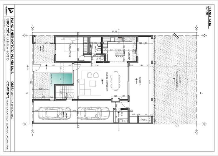 Vivienda La Emilia : Casas de estilo  por Estudio de Arquitectura Lucía Farías