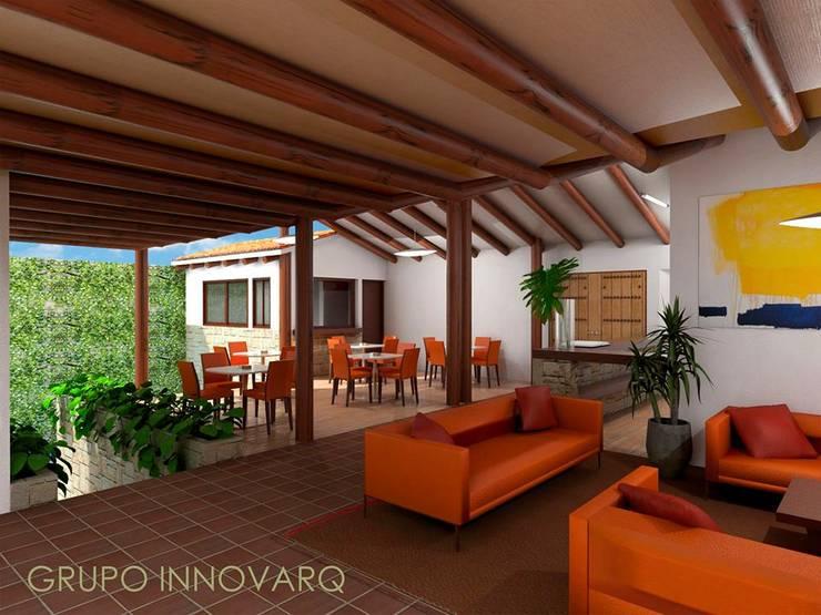 REMODELACION POSADA DOÑA BARBARA, EN BARICHARA: Salas de estilo ecléctico por Grupo Inovarq