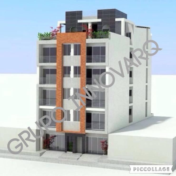 EDIFICIO MULTIFAMILIAR LOPEZ & LOPEZ BARBOSA: Casas de estilo ecléctico por Grupo Inovarq