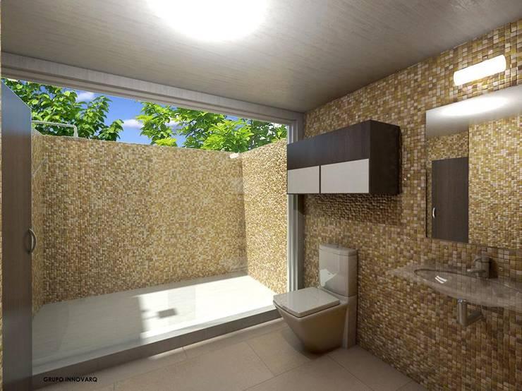 BAÑO CASA CAMPESTRE: Baños de estilo  por Grupo Inovarq