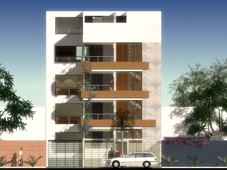 Doña Amalia 240, Surco, Lima: Casas de estilo  por MGR,