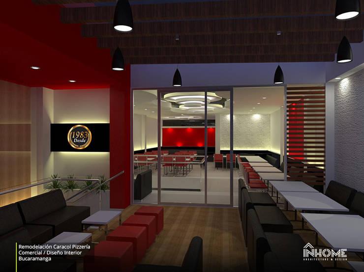 CARACOL PIZZERÍA: Locales gastronómicos de estilo  por INHOME Architecture & Design