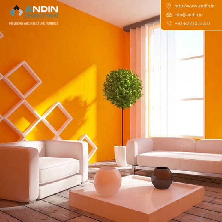interior designers in Chandigarh, Mohali, Panchkula: modern  by ANDIN,Modern