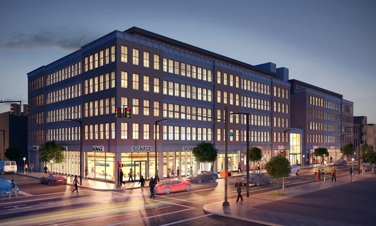 Architectural 3D Exterior Rendering from Pred Solutions:  Offices & stores by Pred Solutions