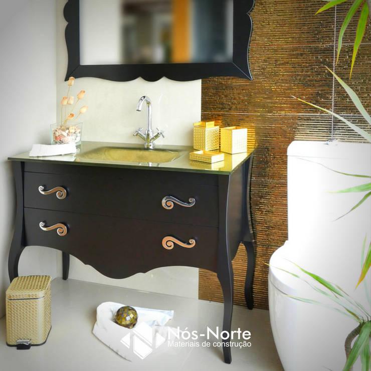 Casa de Banho Nº 1: Casas de banho  por Nós-Norte