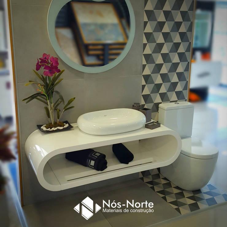 Casa de Banho Nº 4: Casas de banho  por Nós-Norte