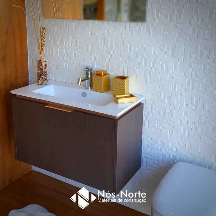 Casa de Banho Nº 9: Casas de banho  por Nós-Norte